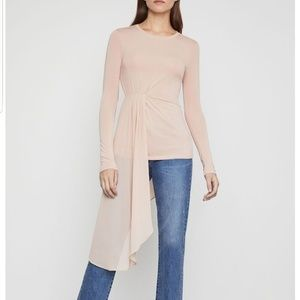 Bcbg Max Azria Asymmetrical Drape Top Size M